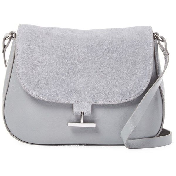Halston Heritage Women's Leather Flap Crossbody - Grey (¥13,095) ❤ liked on Polyvore featuring bags, handbags, shoulder bags, grey, grey leather handbags, leather crossbody, crossbody handbag, leather shoulder handbags and gray crossbody purse