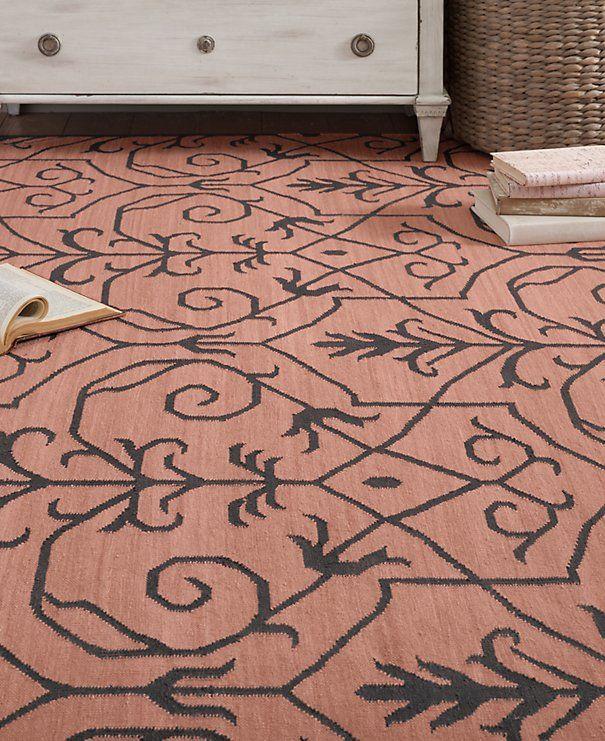 Jardin wool silk flatweave rug francis pinterest for Jardin woolens