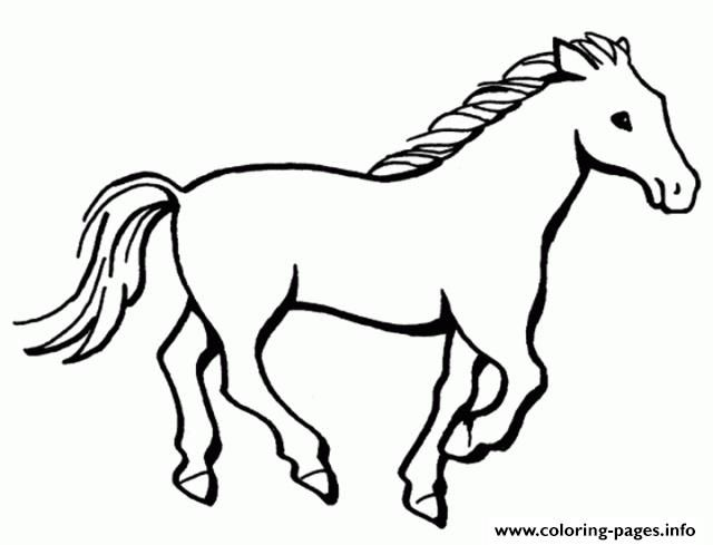 Print Simple Horse S201b Coloring Pages