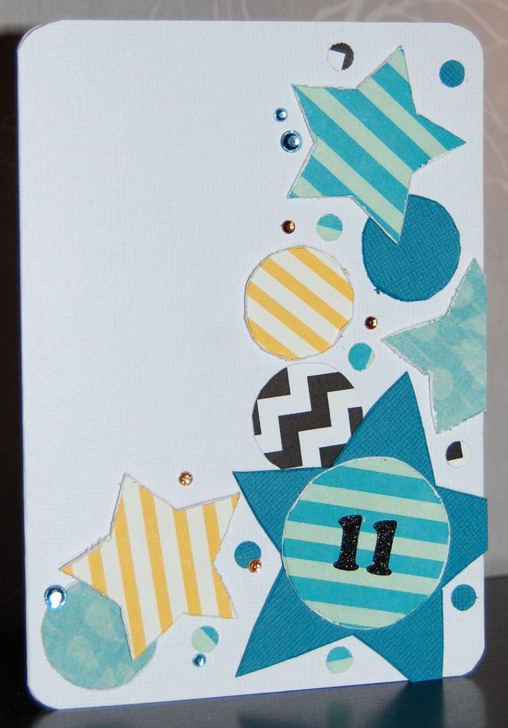 Itsetehty synttärikortti pojalle / Handmade birthday card for a boy