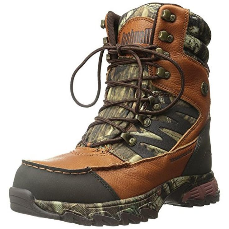 Bushnell Mens Xlander Leather Camo Hunting Boots
