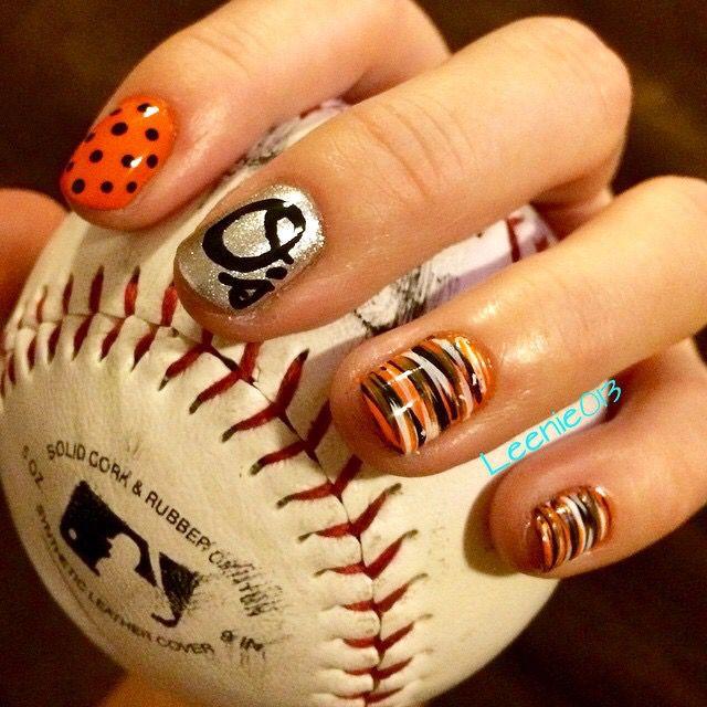 Baltimore Orioles Nail Love Go O's