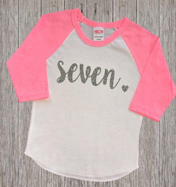 Seven Year Old Birthday Shirt | Seventh Birthday Girl Shirt | 7 Year Birthday…