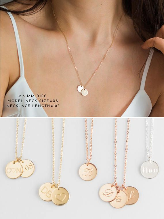"""Lux Accessories Delicate Simple Round /""""M/"""" Initial Name Pendant Necklace."""