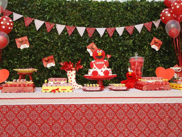 Elmo Party: Kids Parties, Birthday Parties, Elmo Theme, Elmo Birthday, Parties Ideas, 2Nd Birthday, Parties Kids, Elmo Parties, Birthday Ideas