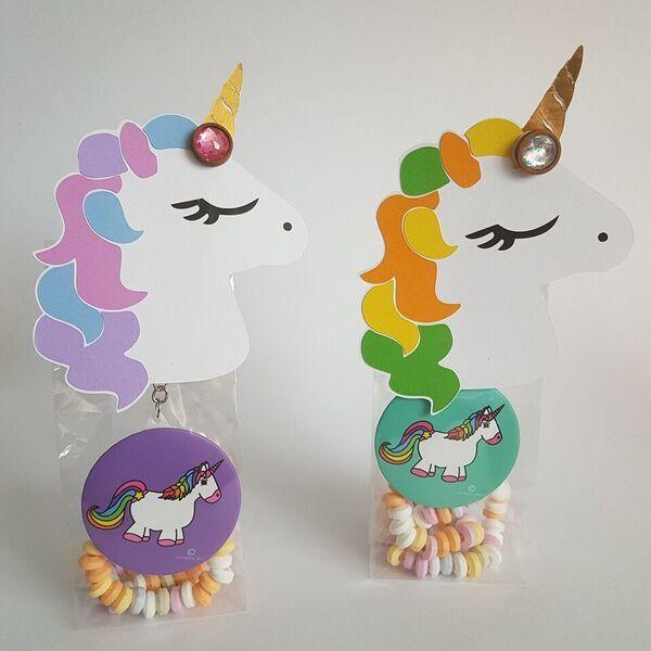 Unicorn-Eenhoorn. Complete traktatie voor jarige. Basisschool of BSO