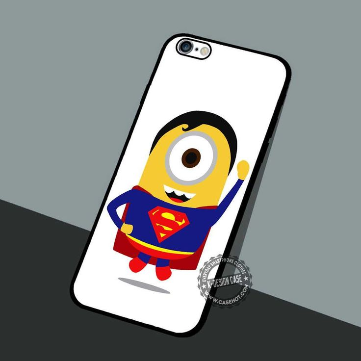 Minion Man of Steel - iPhone 7 6 5 SE Cases & Covers #cartoon #Minion #DespicableMe