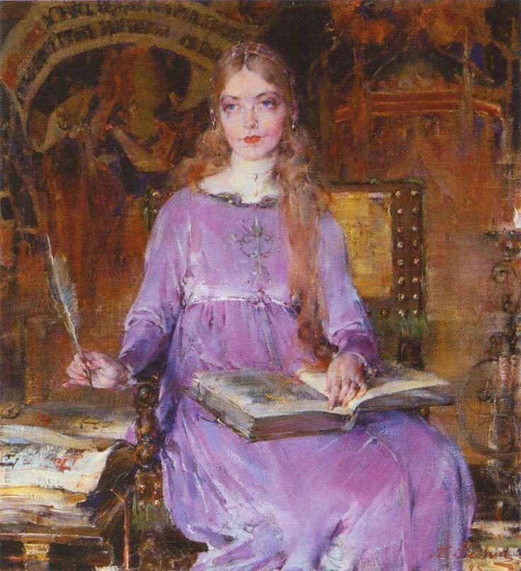 Olga Komova on Facebook Фешин Николай Иванович (1881-1955)  Nicolai Fechin  Портрет Лилиан Гиш в роли Ромолы 1925