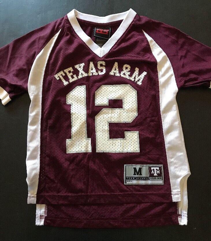 Texas A&M Home Football Jersey -Genuine Stuff Youth Medium 5-6    eBay