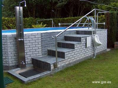 Piscina sobre el nivel del 400 299 terraza - Piscinas sobre suelo ...