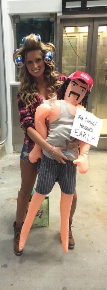 DIY Redneck Halloween Costume with Beercan Curlers