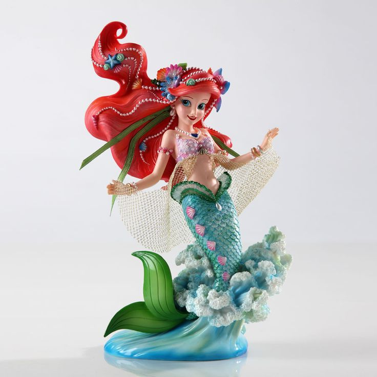 Name: Ariel Introduction: June 2013 Item Number: 4037524 Material: Stone Resin Dimensions: 8.375in H x 3.875in W x 5.25in L Weight: 1.15 lb Reigning Disney Princesses strike a pose in this stunning NE