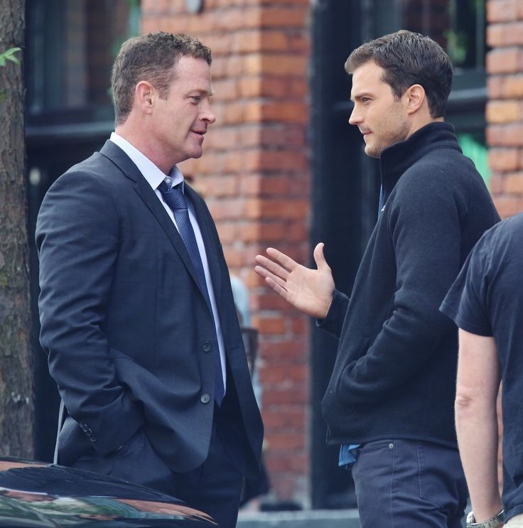 Max Martini as Jason Taylor and Jamie Dornan as Christian Grey on the set of Fifty Shades Freed 6/20/2015 http://everythingjamiedornan.com/gallery/thumbnails.php?album=285