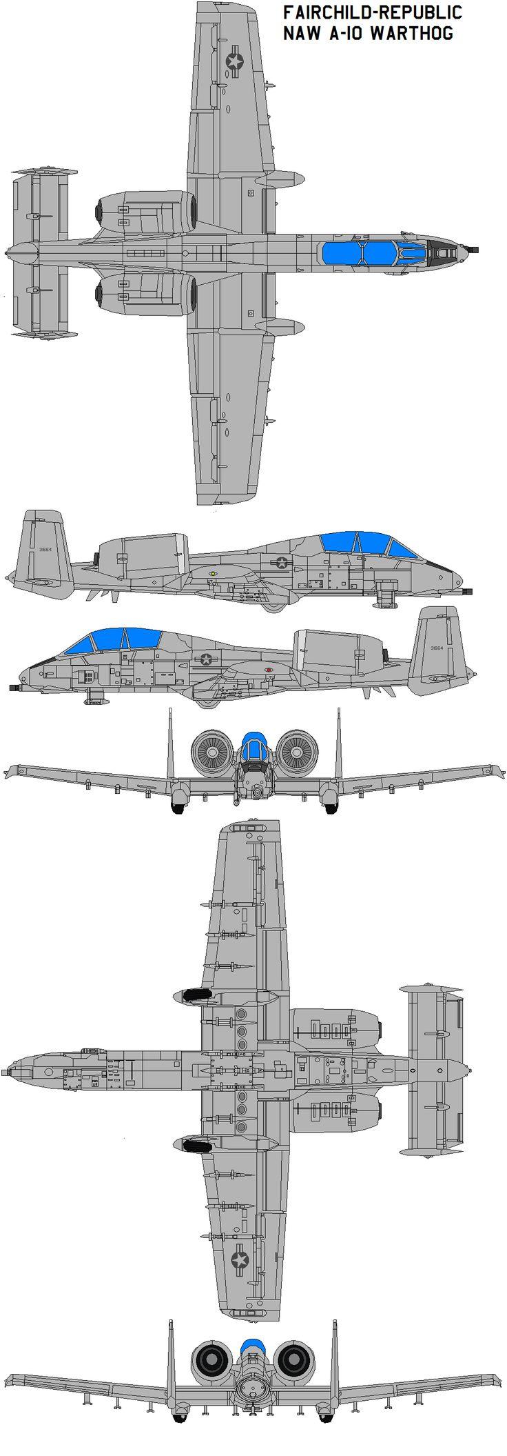 Fairchild NAW A-10 Warthog by bagera3005.deviantart.com on @deviantART
