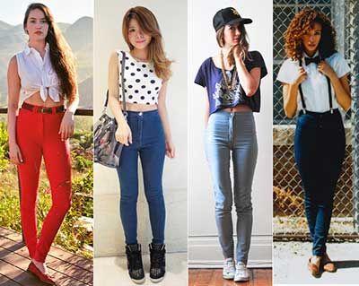 Como Usar Calça Jeans Cintura Alta da Moda Feminina