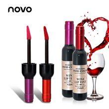 NOVO Marca Red Cores Lábio Mancha de Longa Duração Matte Vinho Tonalidade Lip Gloss Maquiagem Batom Líquido Tatuagem Mate LipGloss Cosméticos(China (Mainland))