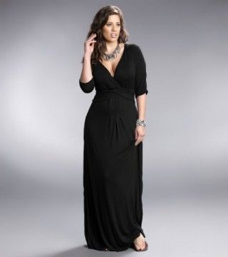 black shirt dresses plus sizes | Home » Plus Size Desert Rain Maxi Dress - Black
