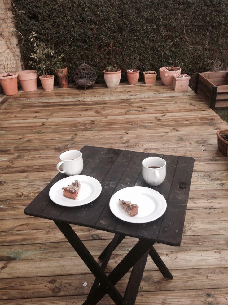 Ny terrasse - kaffetid