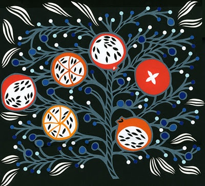Petra Borner- lovely on the black background.Folk art, and floral
