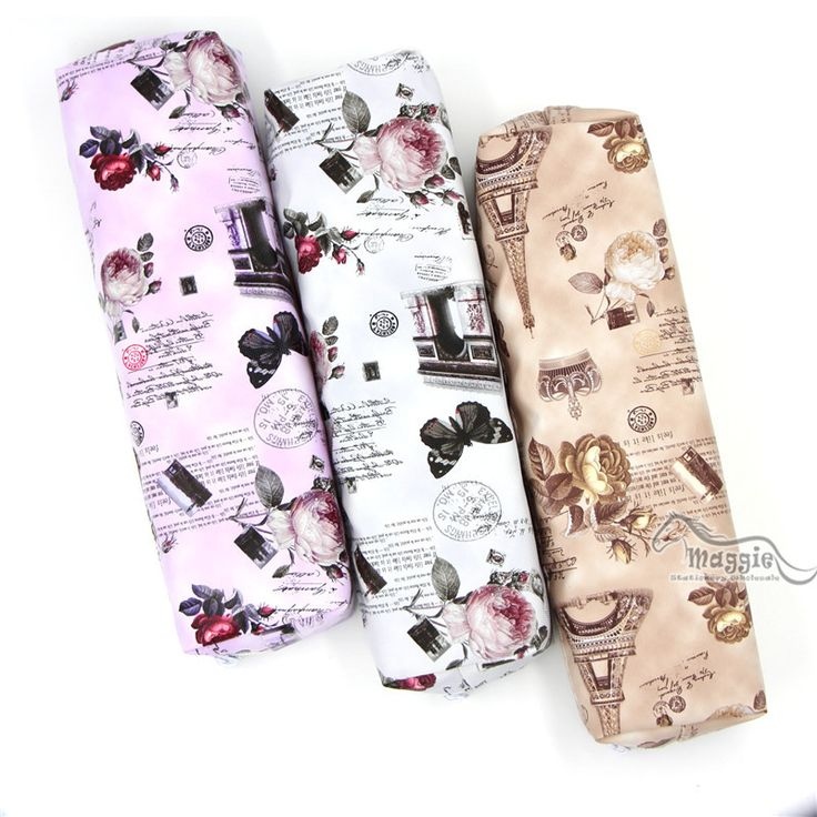 Vintage Rose and Floral Printed Pen Pencil Case European Classic Style Pencil Bag Case Organizer School Stationery Wholesale #jewelry, #women, #men, #hats, #watches, #belts, #fashion