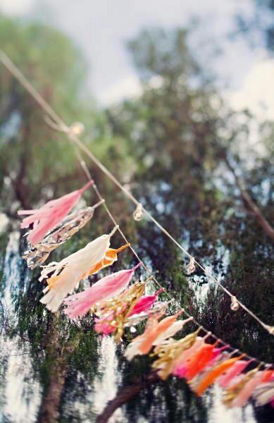 confetti system: Festoon Lights, Actually Ideas, Colors Tassels, Flamingos Wedding, Tassels Garlands Wedding, Ribbons Tassels, Add Colour, Flamingos Theme, Colour Garlands