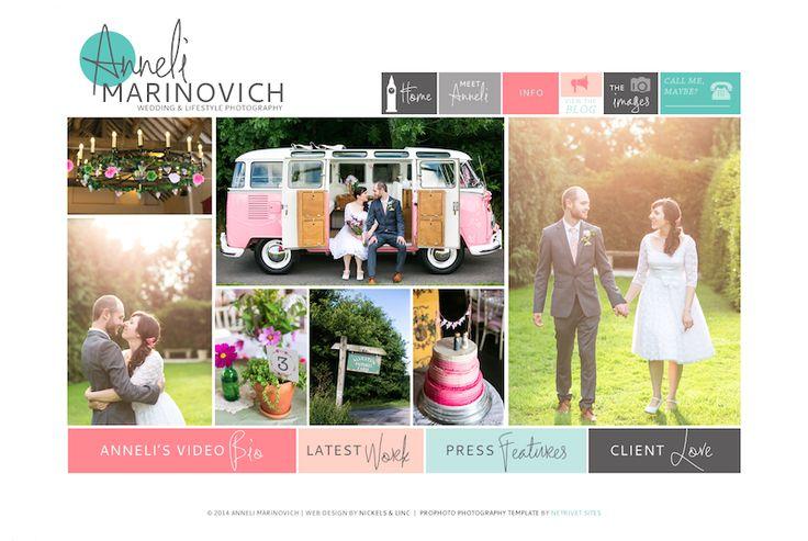 Anneli Marinovich Photography | Custom Prophoto Blogsite design | Photographer Logo and Brand