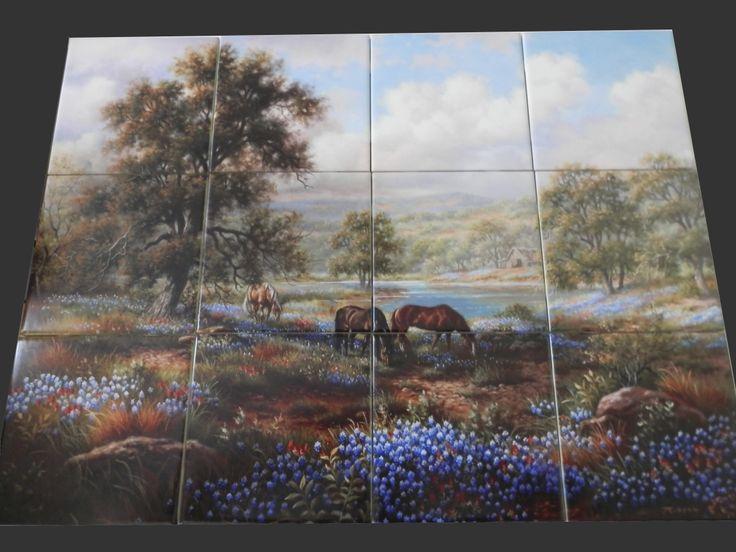 Decorative Horse Themed Tiles Make An Impressive Kitchen Backsplash Idea.  You Can Use A Tile. Shower SurroundFarm YardTile MuralsKitchen ...