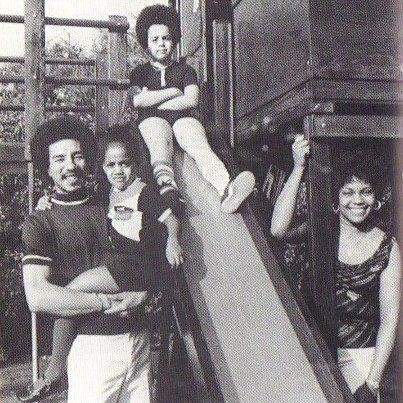 Smokey Robinson, wife Claudette with their children in the early Motown and Detroit days.