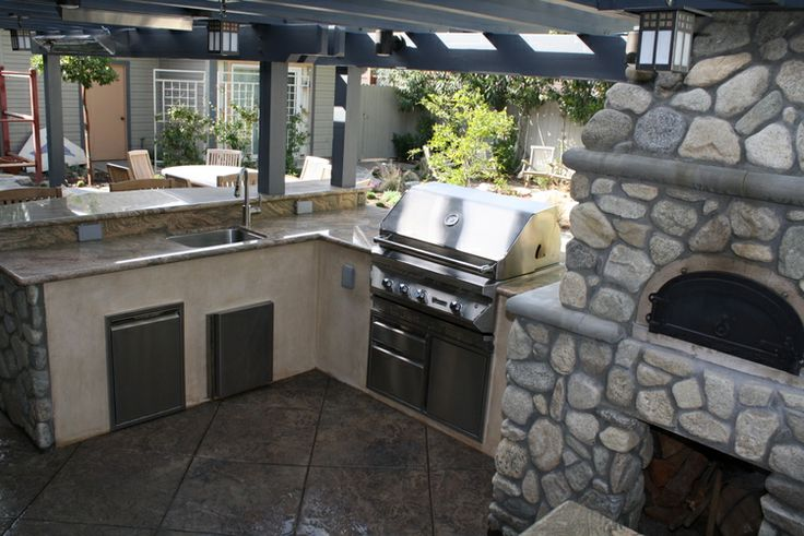Kitchens Amazing Natural Blend Stone Creation For Pizza Oven Outdoor Kitchen