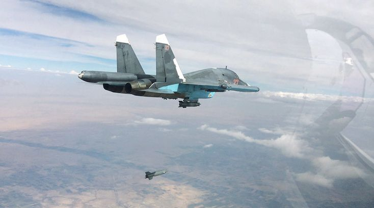 """Russian Air Force strikes Islamic State positions in Syria. """""""