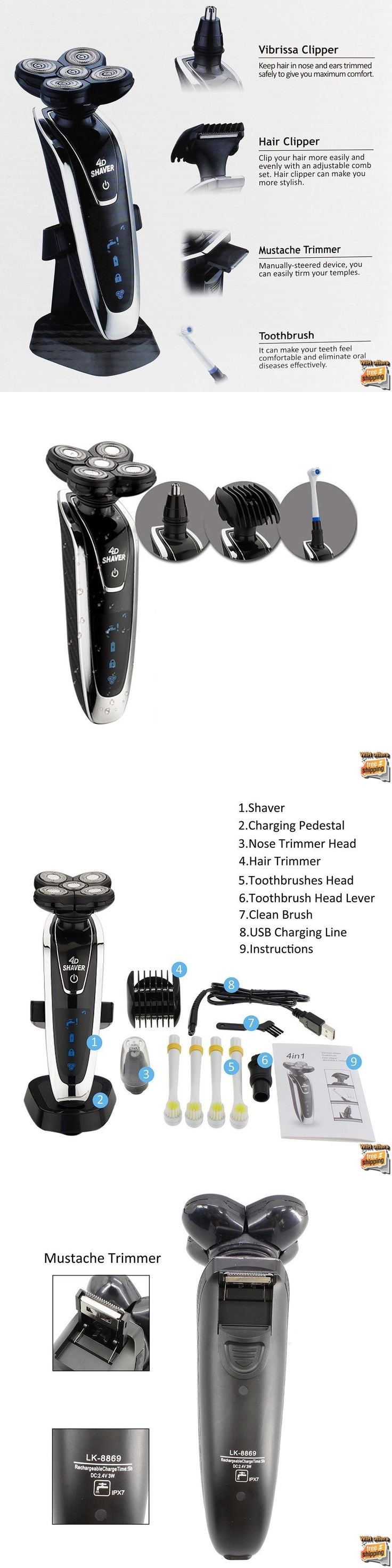 Mens Shavers: Bald Head Shavers For Men 4 In 1 Smart Best Shaver Smooth Skull Cordless Wet Dry -> BUY IT NOW ONLY: $64.79 on eBay!