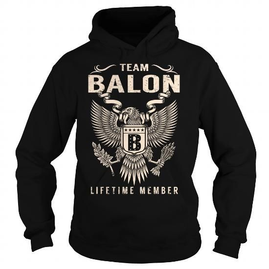 Team BALON Lifetime Member - Last Name, Surname T-Shirt T-Shirts, Hoodies (39.99$ ===► CLICK BUY THIS SHIRT NOW!)
