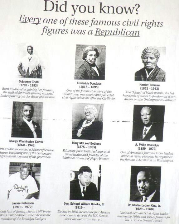 Famous civil rights leaders who are REPUBLICAN!