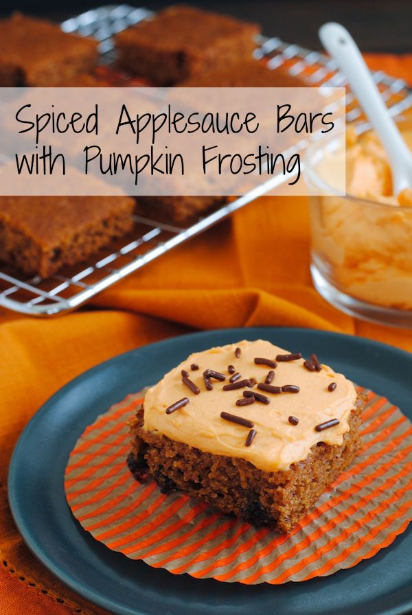 Bars with Pumpkin Frosting - Cake bars made with whole wheat ...