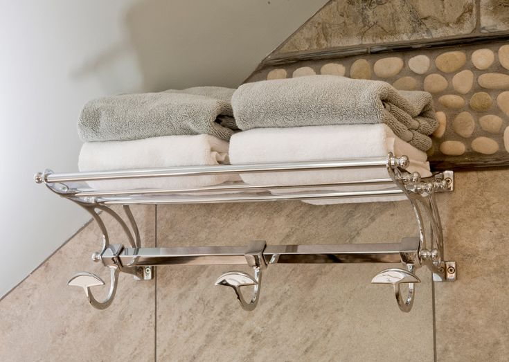 Towel Shelf with Hooks Bathroom Eclectic with Bathroom Sloped Ceiling Clefted