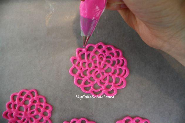 Flores de la primavera en el chocolate ~ MyCakeSchool.com