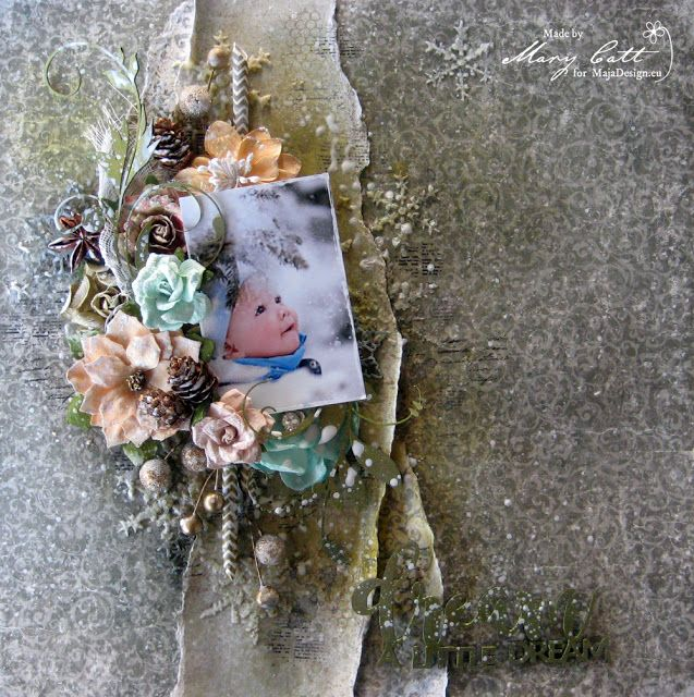 Mary's Crafty Moments: ''Dream a Little Dream'' - DT Layout for Maja Desi...