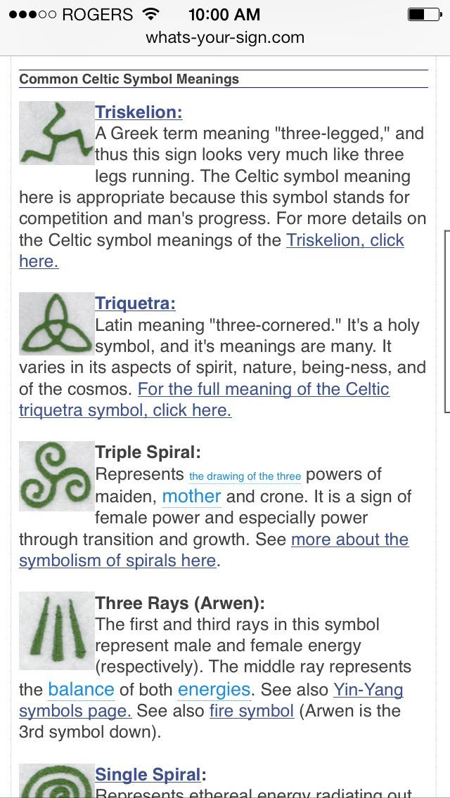 Celtic symbols. River is obsessed with spirals right now ...