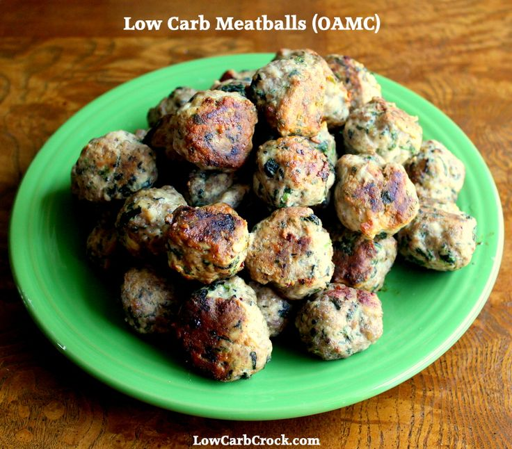 Spinach Parmesan Baked Meatballs Shared on https://www.facebook.com/LowCarbZen