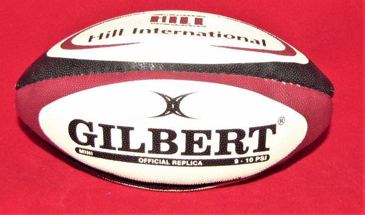 GILBERT MINI OFFICIAL REPLICA RUGBY BALL HILL INTERNATIONAL  #Gilbert