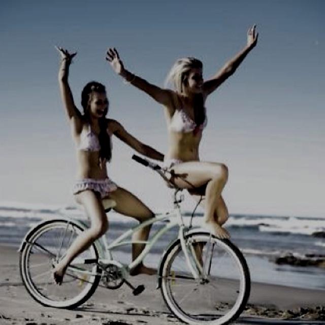 Bike Rides With Best Friends On The Beach Summer Fun Summer Of
