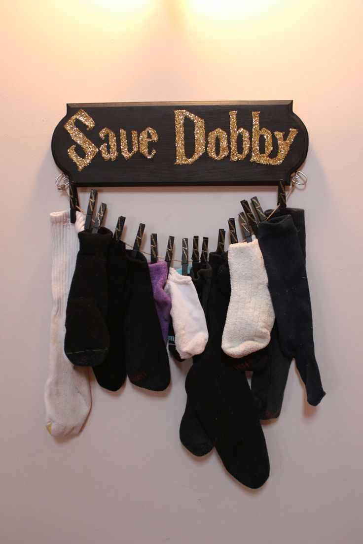 Add a bit of whimsy and organization to your home with this matchless sock holder.