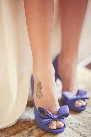 Фиолетовые туфли свадебные