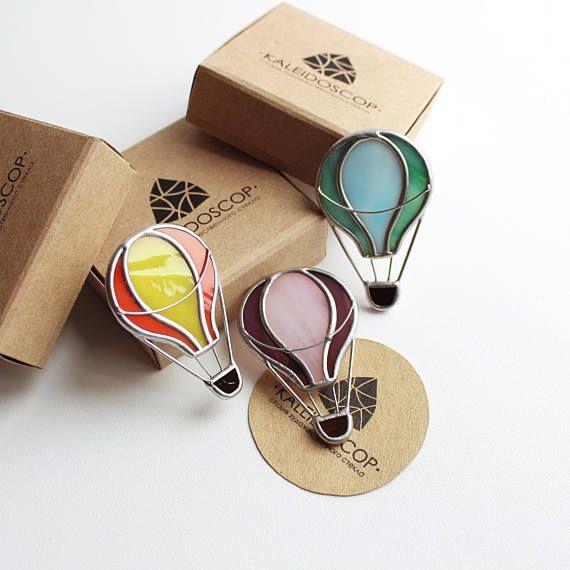 Broche de cristal globo de colores broche globo globo
