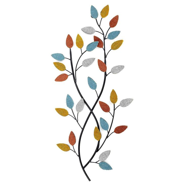 Cosy Skandi Leaf Wall Art | Dunelm