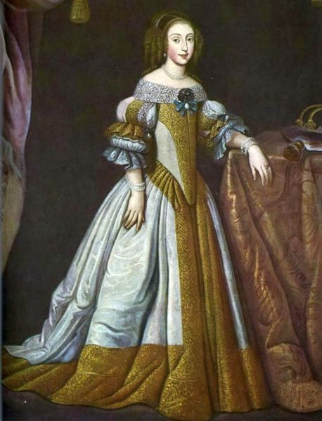 Queen Eleonora Wiśniowiecka.  Date circa 1670,oil on canvas, Current location Rychnov Castle / Rychnov nad Kněžnou, Another version of this portrait in the collection of the Ptuj Castle.