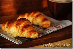 Joghurt-Butterhörnchen / Hefe & Mehr