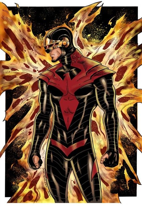 Cyclops by Josh Templeton- it looks like a Cyclopes, Spider-Man, Judge Dred mix