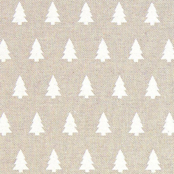 Tissu de Noël Sapin blanc – beige