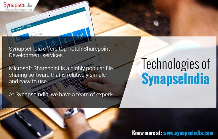 SynapseIndia technologies like Sharepoint is a highly popular file sharing software among users. Get more info at  http://synapseindia-technologies.weebly.com/blog/-synapseindia-technologies-and-services-sharepoint-development